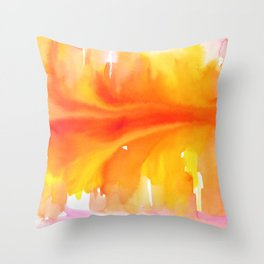 Blurred City Throw Pillow