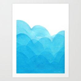 Always blue Art Print