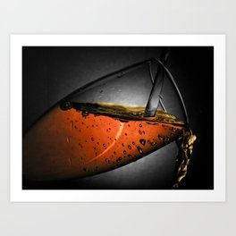 Water & Wine Art Print