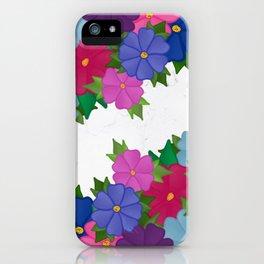 Flowers on Marble Floors  iPhone Case