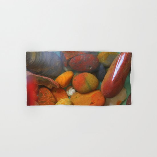 Colorful stones Hand & Bath Towel