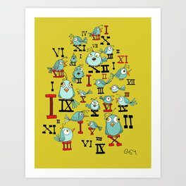 Chicky Time Art Print