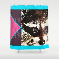 rocket raccoon Shower Curtains featuring Ain't No Thing Like Me, 'Cept Me! | Rocket Raccoon by Canis Picta
