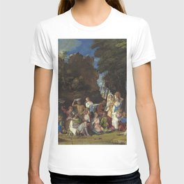 Giovanni Bellini and Titian The Feast of the Gods 1514 1529 Painting T-shirt