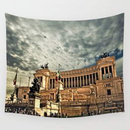 Vittorio Emanuele Monument Palace Rome Italy Wall Tapestry