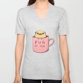 Pug of Tea Unisex V-Neck