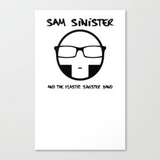 Plastic Sinister Band Logo Canvas Print
