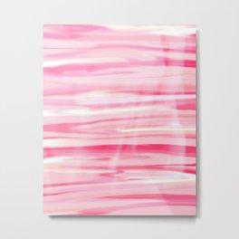Cute pink paint wood Metal Print