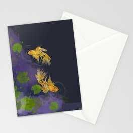 Dark Golden Waters Stationery Cards