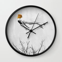 Lady of Flowers Wall Clock