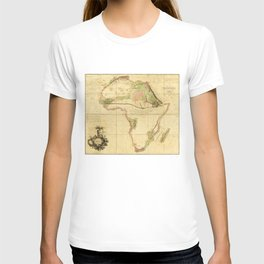 Map of Africa by Aaron Arrowsmith (1802) T-shirt