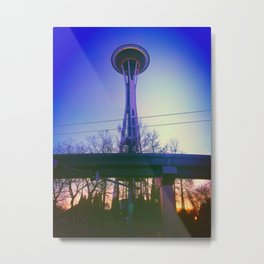 Space Needle at Sunset Metal Print