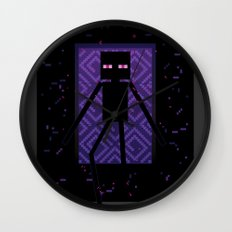 Here comes the Enderman! Wall Clock