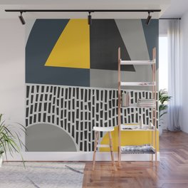 Umbrella Rain Abstract Wall Mural