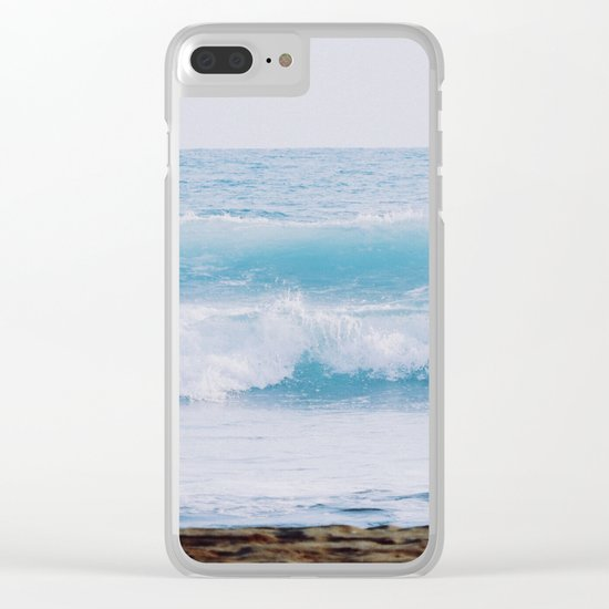 Pastel Ocean #waves Clear iPhone Case