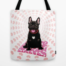I heart frenchies Tote Bag