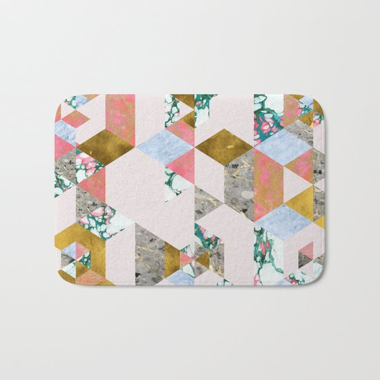 Geometry of Love #society6 #decor #buyart Bath Mat