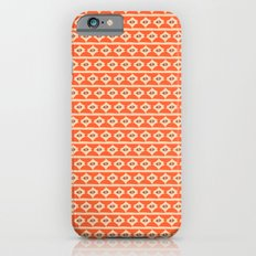 Aztek floral orange 2 iPhone 6s Slim Case