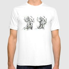 head and neck White SMALL Mens Fitted Tee