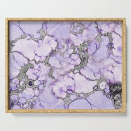 Lavender Marble Serving Tray