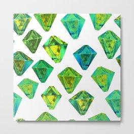 Green gemstone pattern. Metal Print