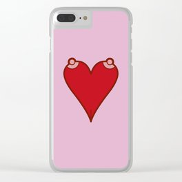 Liar. You say love, but you mean sex. Clear iPhone Case