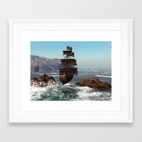 pirate ship Framed Art Prints featuring Pirate Ship by Simone Gatterwe