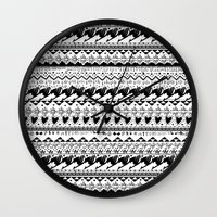 fairy tail Wall Clocks featuring Fairy Tail  by eriboook