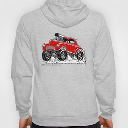 1941 WILLYS Classic Rodder - RED Hoody