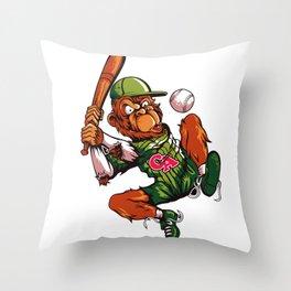 Baseball Monkey - Limerick Throw Pillow