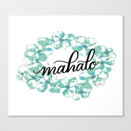 Thank you Mahalo from Hawaii Canvas Print