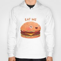 burger Hoodies featuring Burger by Lime