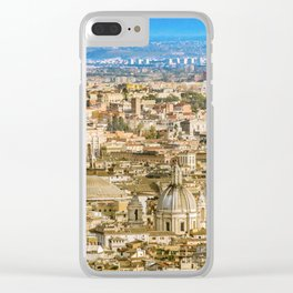 Rome Aerial View From Saint Peter Basilica Viewpoint Clear iPhone Case