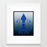 squid Framed Art Prints featuring Squid by Bahadır Tez