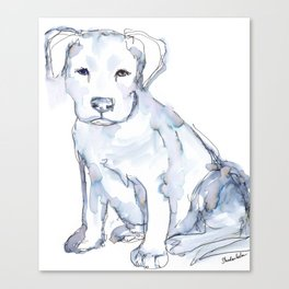 Pit Bull Puppy (for Kerry), watercolor Canvas Print