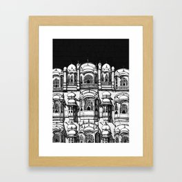 Hawa Mahal (Charcoal) Framed Art Print