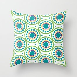 Circulos  concentricos Throw Pillow