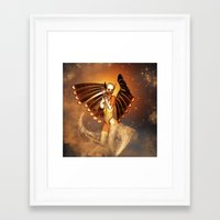 angel Framed Art Prints featuring Angel by nicky2342