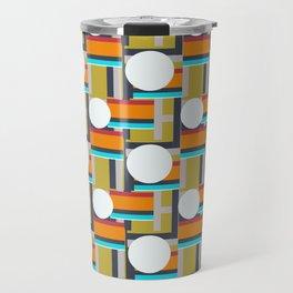 Bauhaus Blocks and Stripes Travel Mug