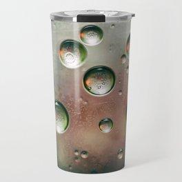 Organic Silver Oil Bubble Abstract Travel Mug