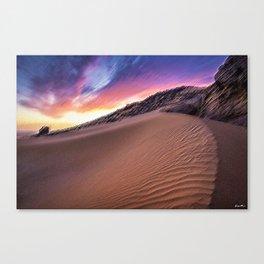 Sahara Desert Landscape Painting by Jeanpaul Ferro Canvas Print