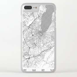 Geneva Map Line Clear iPhone Case
