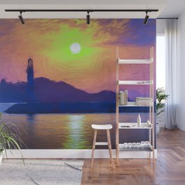 Bodrum Lighthouse Impressionism Wall Mural