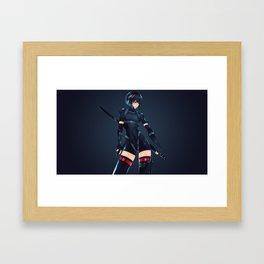 Kusanagi Motoko Ghost In The Shell Ultra HD Framed Art Print