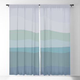 Calming Ocean Waves in Soft Dusty Pastels Blackout Curtain