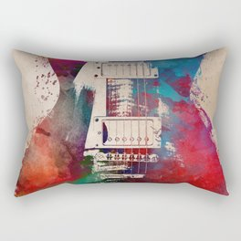 guitar art #guitar Rectangular Pillow