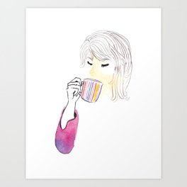 When in Doubt, Drink Tea Art Print