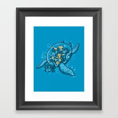FLYING DEEP Framed Art Print