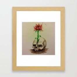 Skullflower Framed Art Print