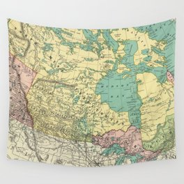 Vintage Map of Canada (1897) Wall Tapestry